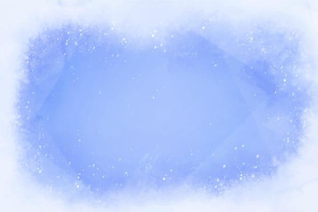 Fond D'hiver De Style Aquarelle Vecteur Premium