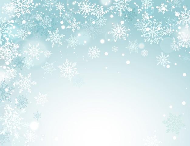 Fond d'hiver de vacances Vecteur Premium