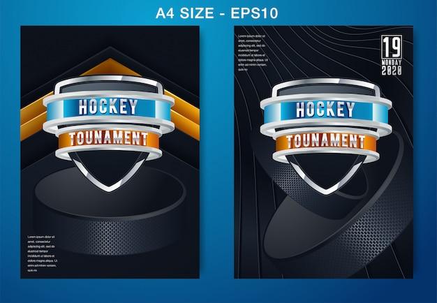 Fond de hockey sur glace Vecteur Premium