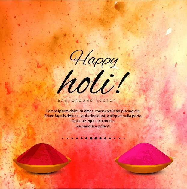 fond Holi Colorful Vecteur gratuit