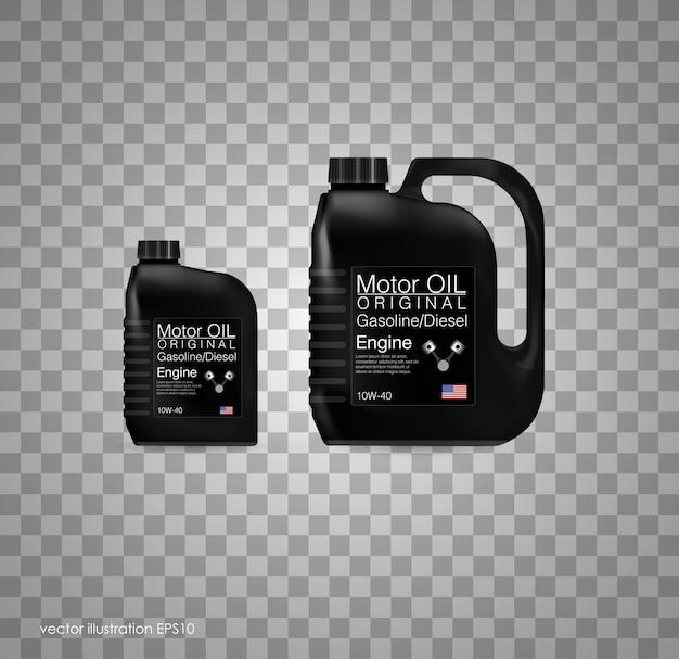 Fond D'huile Moteur Bouteille, Illustration. Arrière-plan Transparent Vecteur Premium