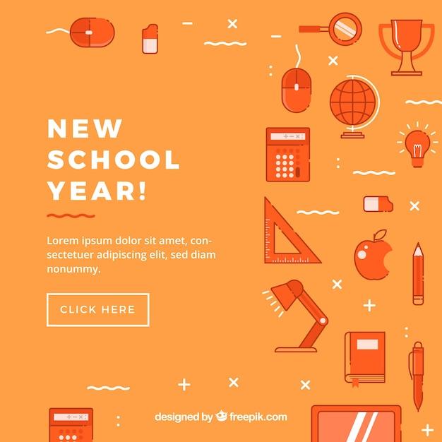 Fond d'icônes de l'éducation Vecteur gratuit