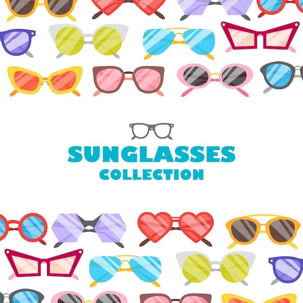 Fond d'icônes de lunettes de soleil illustration Vecteur gratuit