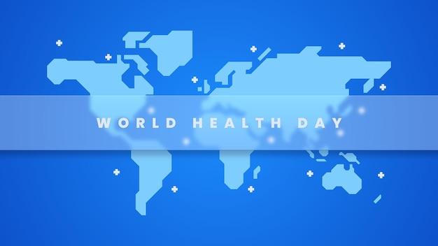 Fond D'illustration De La Journée Mondiale De La Santé Vecteur Premium