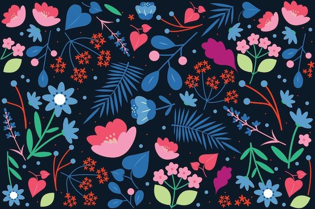 Fond Imprimé Floral Coloré Ditsy Vecteur gratuit