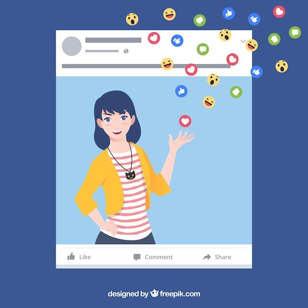 Fond de l'influencer facebook Vecteur gratuit