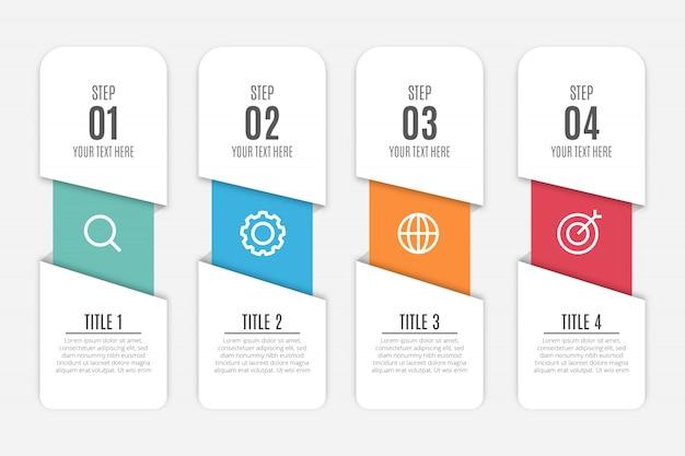 Fond D'infographie Moderne D'affaires Vecteur gratuit