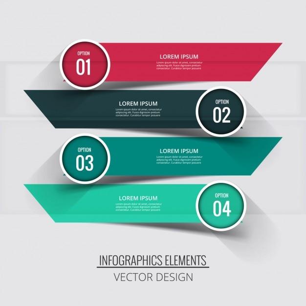 fond infographique Colorful Vecteur gratuit