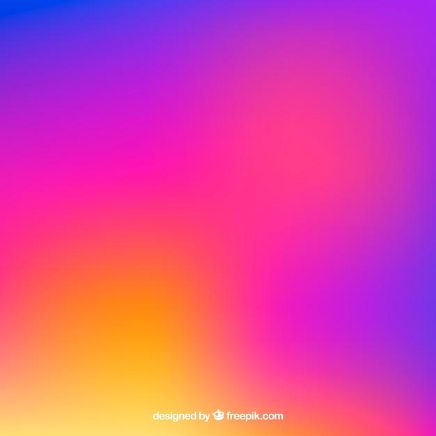 Fond d'instagram en dégradé de couleurs Vecteur gratuit