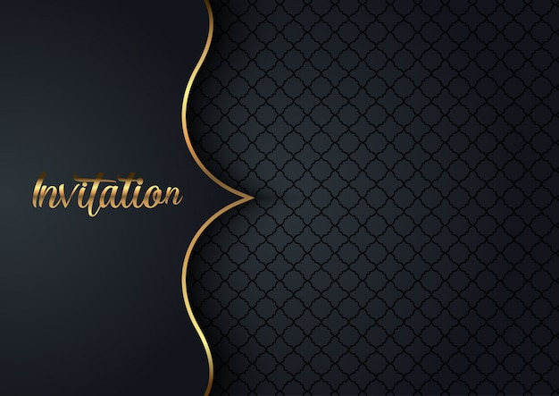 Fond D'invitation élégant Vecteur gratuit