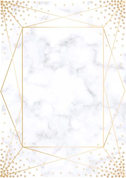 Fond d'invitation de mariage géométrique moderne. Vecteur Premium