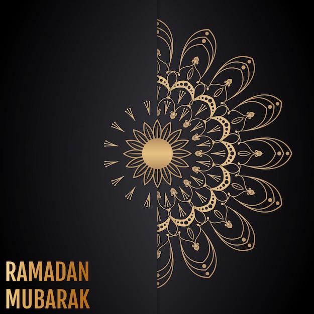Fond islamique de vecteur. ramadan mubarak. Vecteur Premium