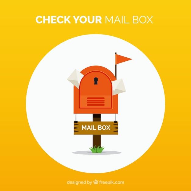 fond jaune de bo te aux lettres avec des enveloppes t l charger des vecteurs gratuitement. Black Bedroom Furniture Sets. Home Design Ideas