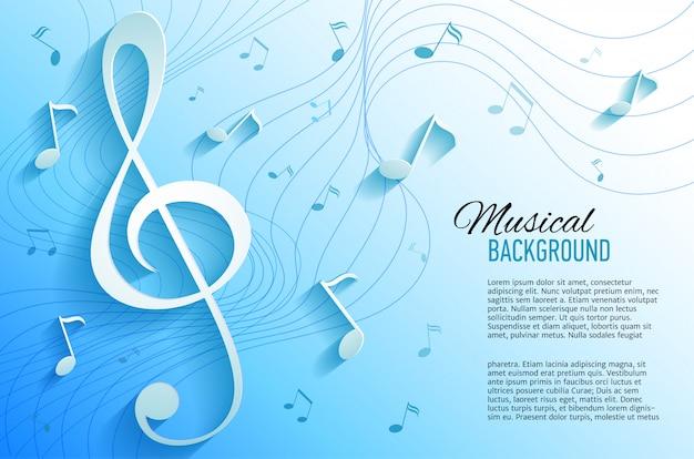 Fond Jaune Avec Des Notes De Musique Et Des Clés. Vecteur Premium