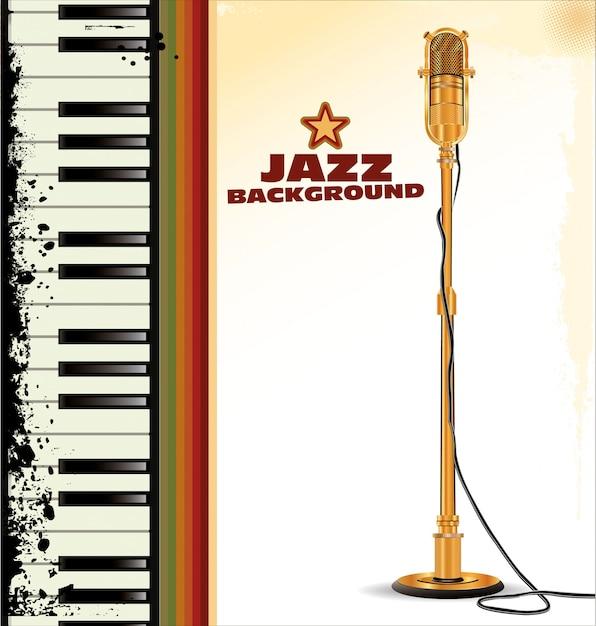 Fond de jazz Vecteur Premium