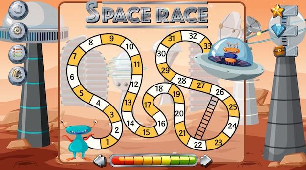 Fond de jeu de course à l'espace Vecteur gratuit