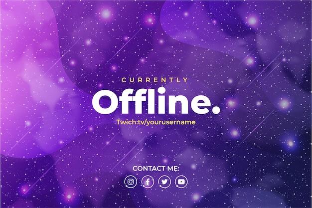 Fond De Jeu Pour Twitch Avec Fond Galaxy Vecteur gratuit