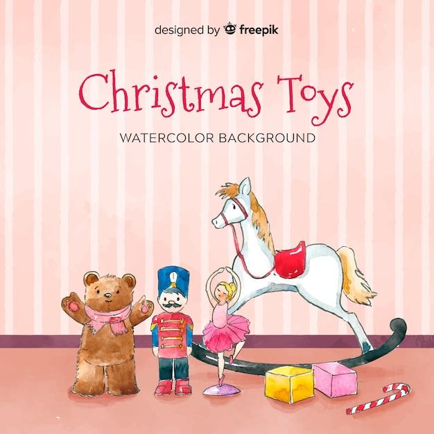 Fond de jouets de noël Vecteur gratuit