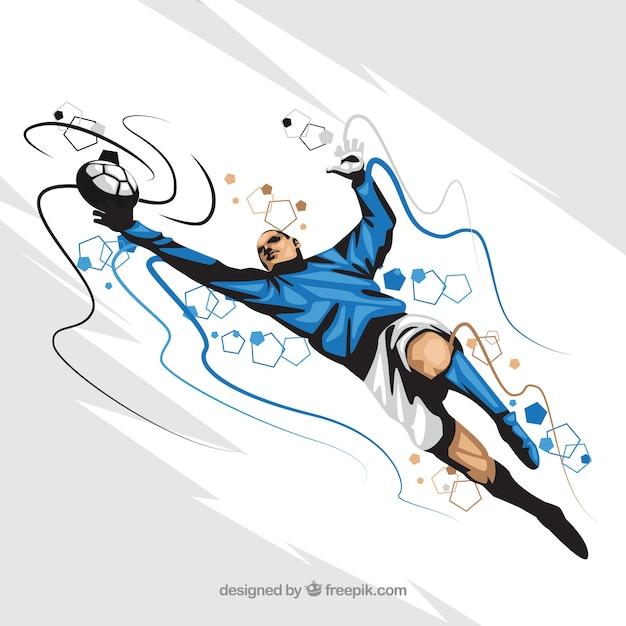 Fond de joueur de football dans un style abstrait Vecteur gratuit