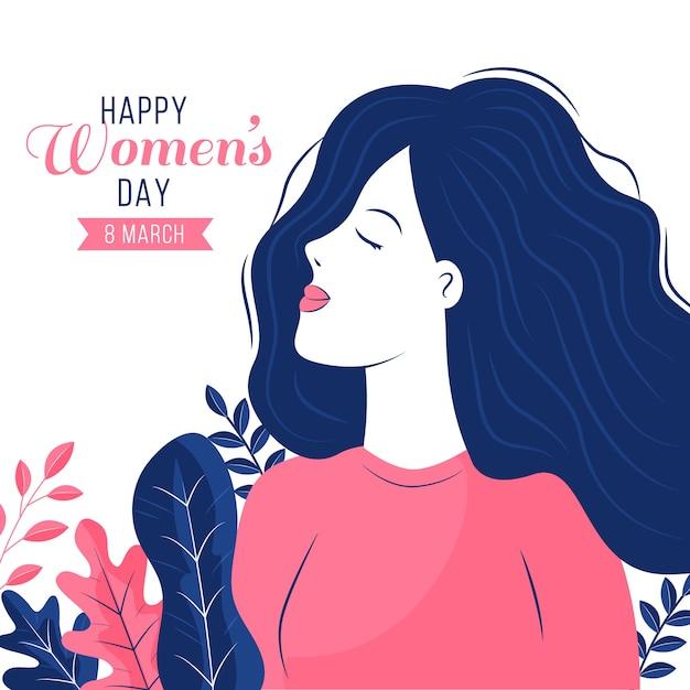 Fond De Jour Féminin Design Plat Vecteur gratuit