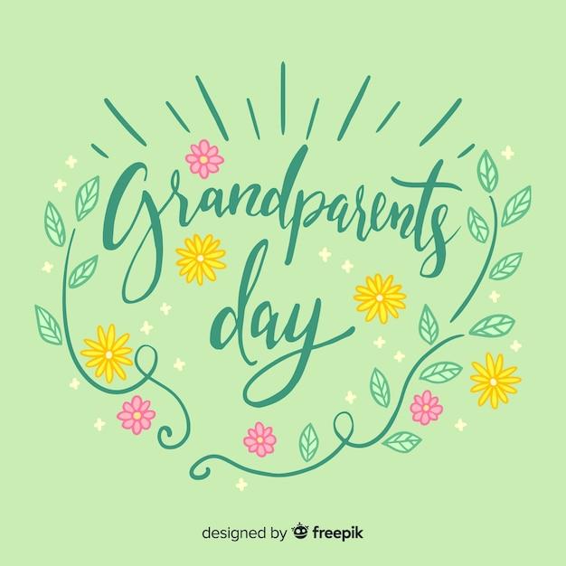 Fond de jour des grands-parents Vecteur gratuit