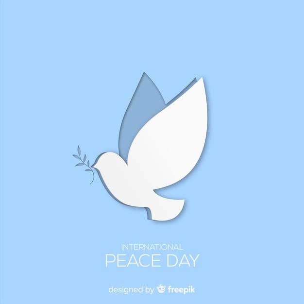 Fond de jour de paix avec colombe Vecteur gratuit
