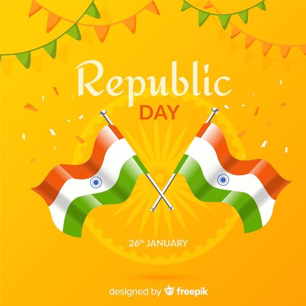 Fond de jour de la république indienne Vecteur gratuit