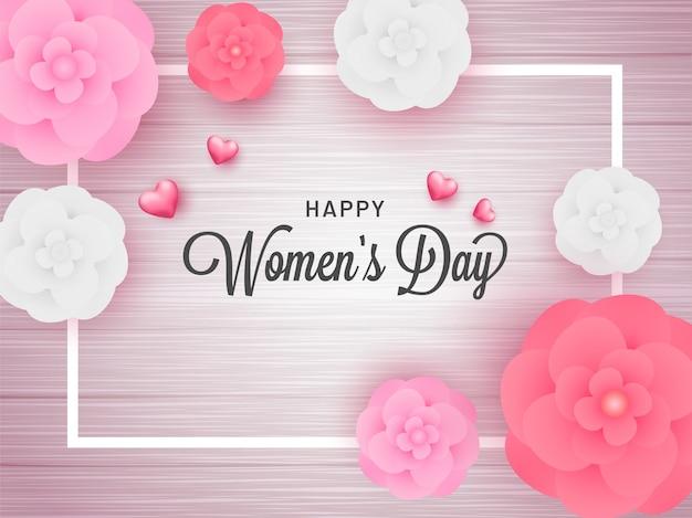 Fond de la journée de la femme. Vecteur Premium