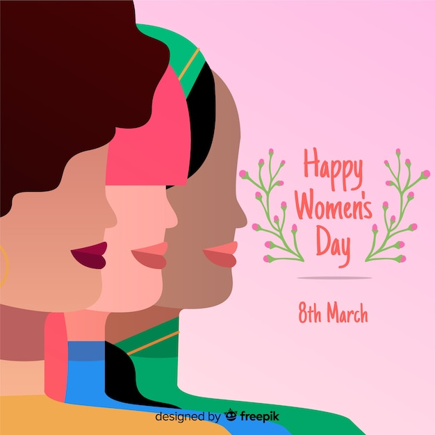 Fond de la journée des femmes Vecteur gratuit