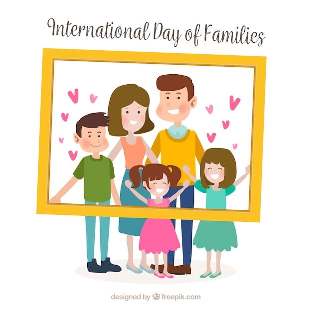 Fond de la journée internationale de la famille Vecteur gratuit