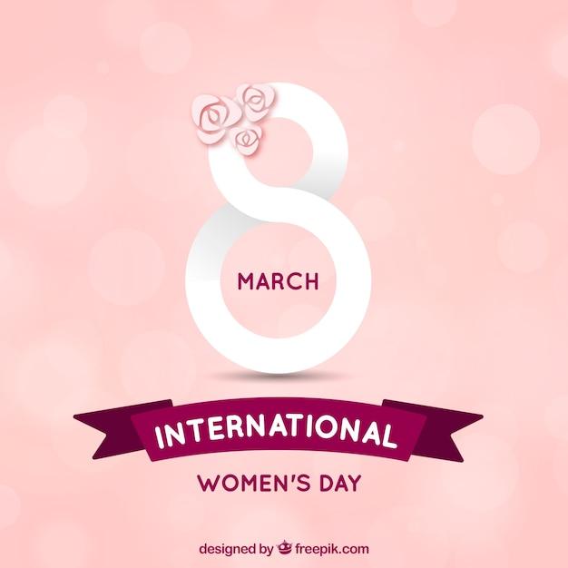 Fond de la journée internationale des femmes dessiné à la main Vecteur gratuit