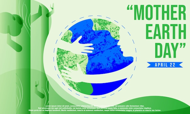 Fond de la journée mère terre Vecteur Premium