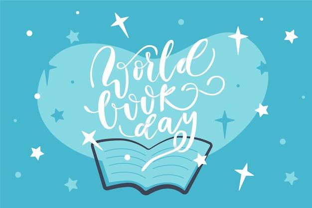 Fond De Journée Mondiale Du Livre Design Plat Vecteur gratuit