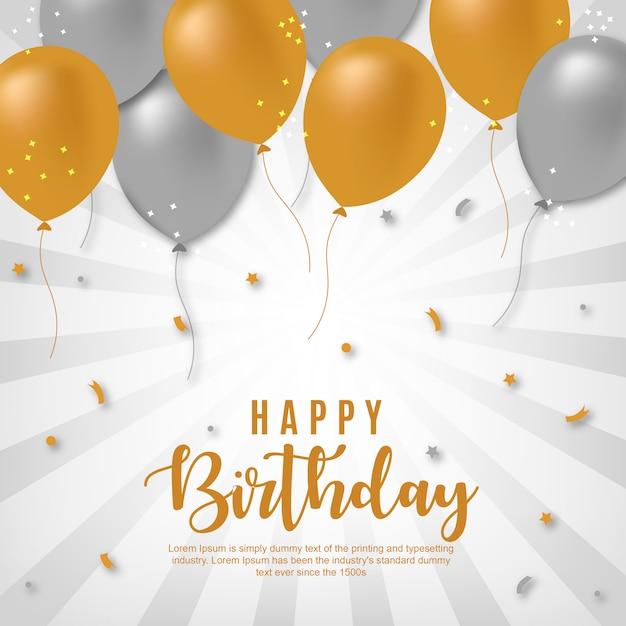 Fond de joyeux anniversaire de vecteur Vecteur Premium