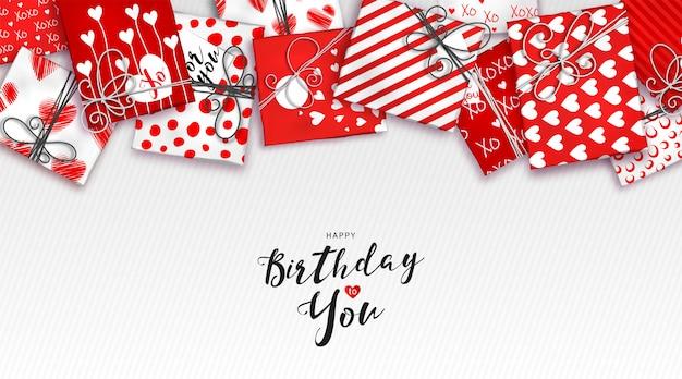 Fond de joyeux anniversaire Vecteur Premium