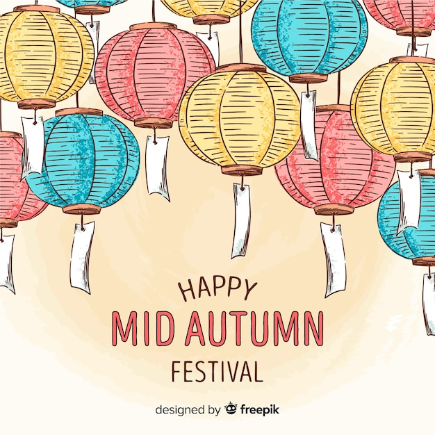 Fond de joyeux festival de mi automne Vecteur gratuit