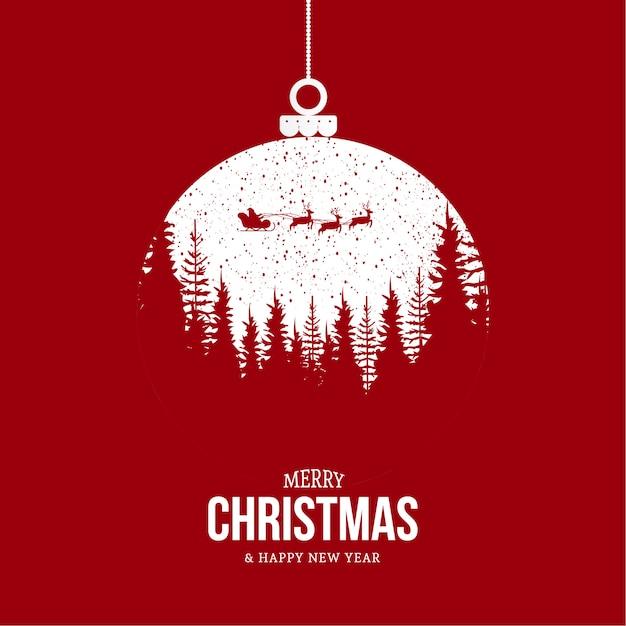 Fond De Joyeux Noël Moderne Avec Un Design Moderne Vecteur gratuit
