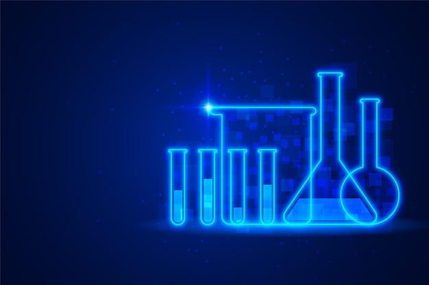 Fond De Laboratoire De Science Futuriste Vecteur Premium