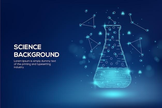Fond De Laboratoire De Science Futuriste Vecteur gratuit