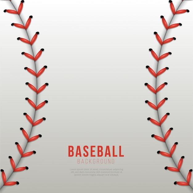 Fond de lacets balle de baseball Vecteur Premium