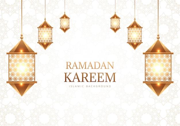 Fond De Lampes Arabes Décoratives Ramadan Kareem Vecteur gratuit