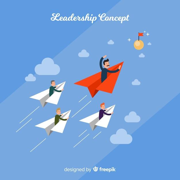 Fond de leadership dans un style plat Vecteur gratuit