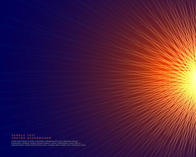 Fond de lignes abstraites faisant une forme de style de soleil rougeoyante Vecteur gratuit
