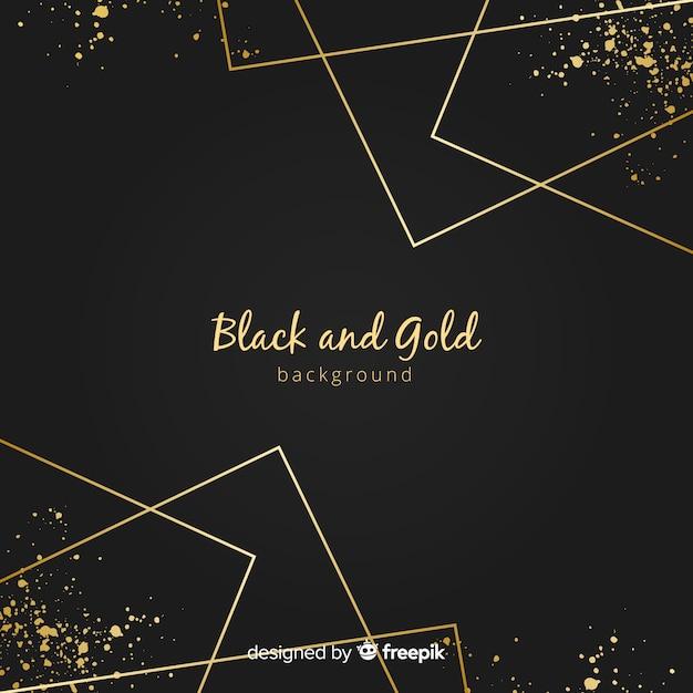 Fond de lignes droites dorées Vecteur gratuit