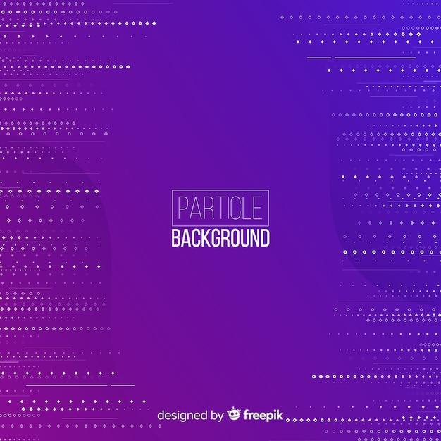 Fond de lignes de particules plates violet Vecteur gratuit
