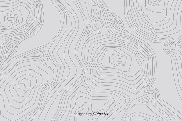 Fond de lignes topographiques blanches Vecteur gratuit