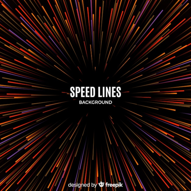 Fond de lignes de vitesse Vecteur gratuit