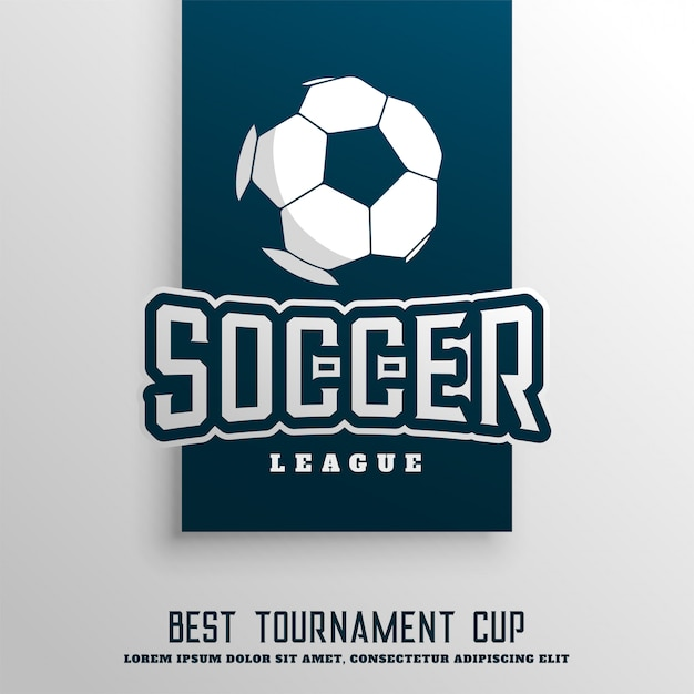 Fond de ligue de tournoi de football soccer Vecteur gratuit