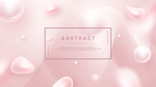 Fond liquide abstrait rose clair pour des affiches cosmétiques, des bannières et autres. Vecteur Premium