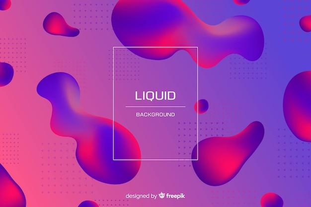 Fond liquide bicolore dégradé Vecteur gratuit
